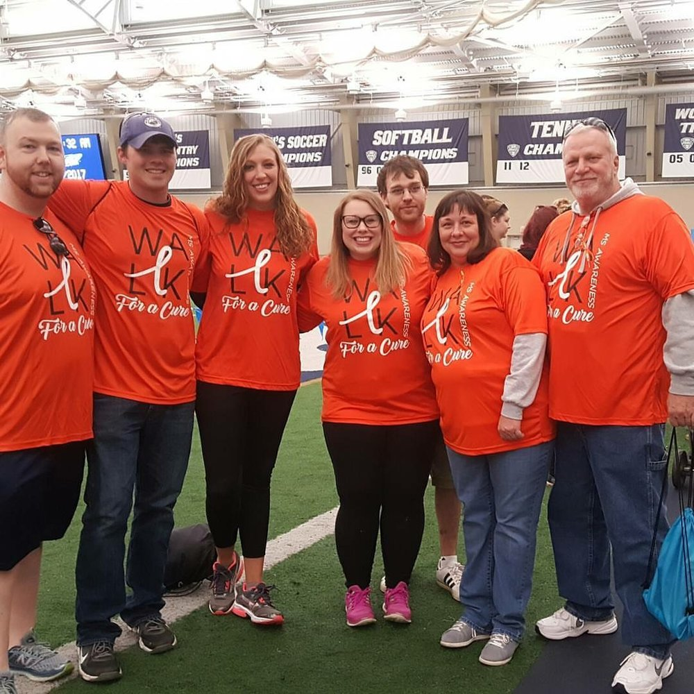 My family supporting me at the 2017 MS Walk in May- 1 year after my diagnosis