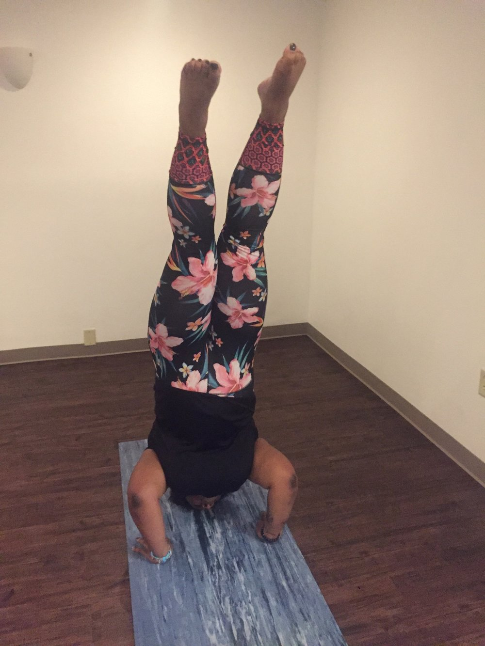 Dev's freshman headstand! (More like graduated with honors, right?!)