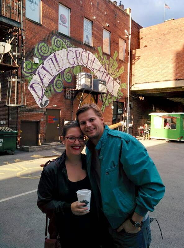 Fiance Sarah and me at a David Grohl Alley fundraiser. Unknown to us at the time, this would be the future home of Modern Methods Brewing Company!