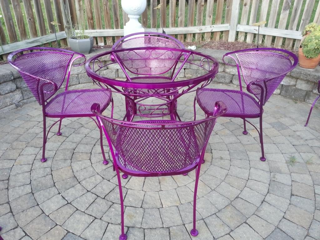 Powder coated patio furniture photos powder coating md dc va pa