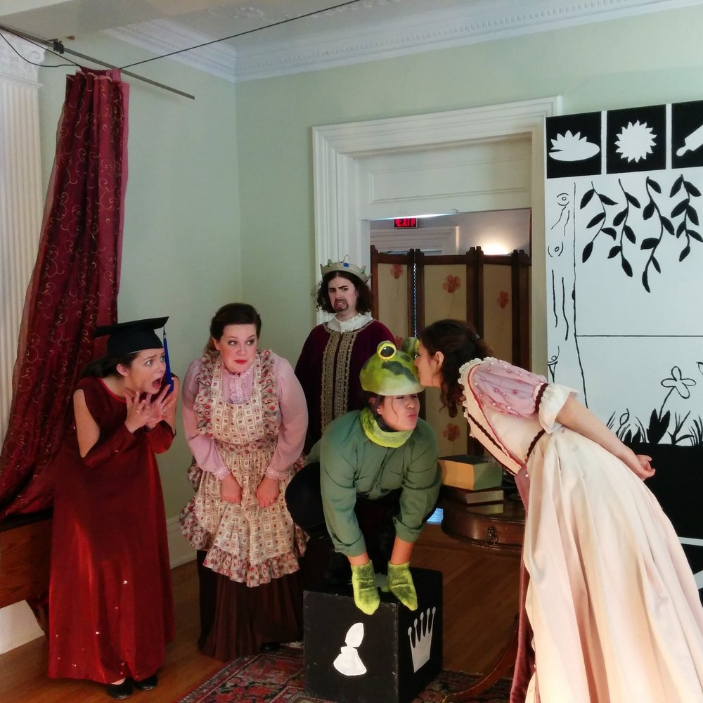 Students from the Centre for Drama, Theatre, and Performance Studies in The Frog Prince