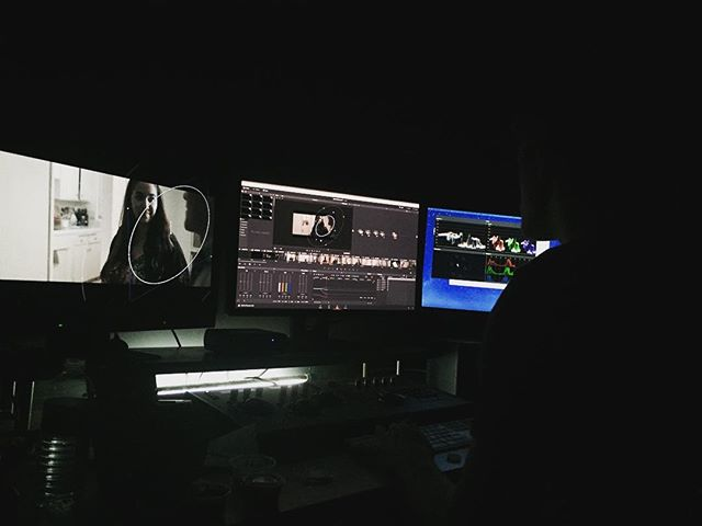 Our color angel @brianlegoo making things pretty #TheThirdDate #colorcorrection