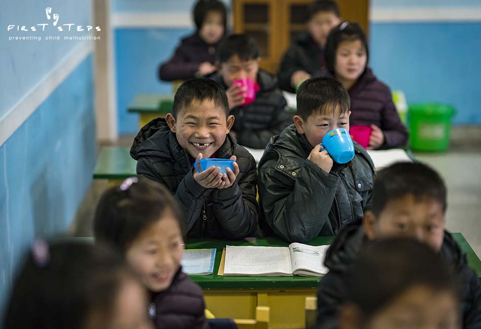 - At the boarding school, there are smiles all around during the morning soymilk break. Good nutrition means children are not hungry and can concentrate more fully on their studies.