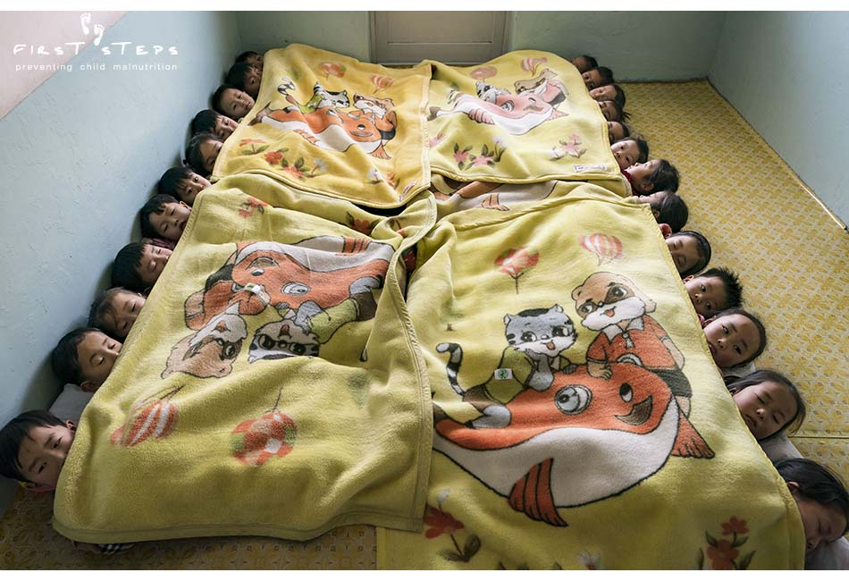 - It was almost naptime at the Tongchon Daycare when the First Steps team visited. As soon as the teachers clapped their hands and said it was naptime, the children did not dillydally. They gathered their pillows and laid down without complaint!