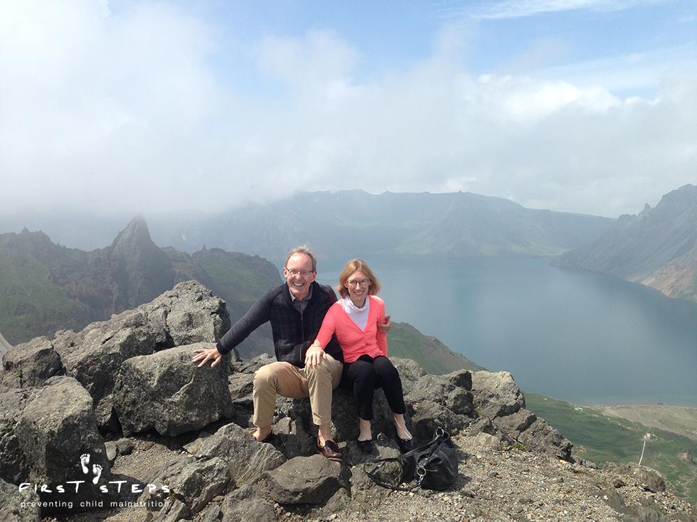 Robert Ross and Susan Ritchie at Mt. Baekdu