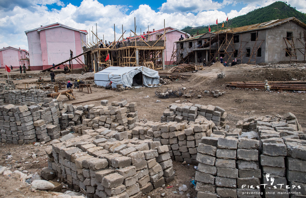 Photos taken in June 2017 show how reconstruction is continuing in Yonsa county.