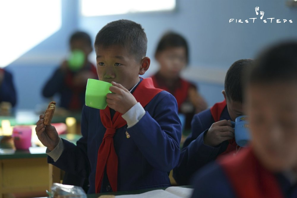 The children told us that soymilk tastes good, improves their concentration and makes their skin brighter.