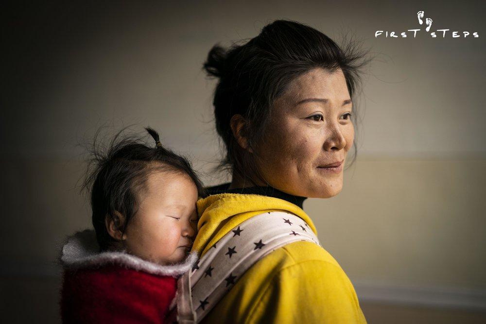 At the Jangbaek Policlinic in Munchon, we met Mrs. Jong Hyang-Suk and her nine-month-old daughter Jong-Yong.