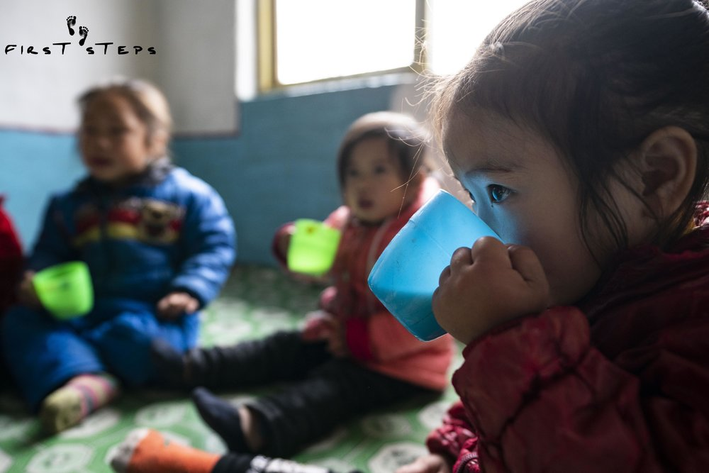 """""""When the children drink soymilk, their skin improves. They are really excited for soymilk time."""" - Director U Bok-Song of the Rosang-Ri #1 Daycare in Tongchon."""