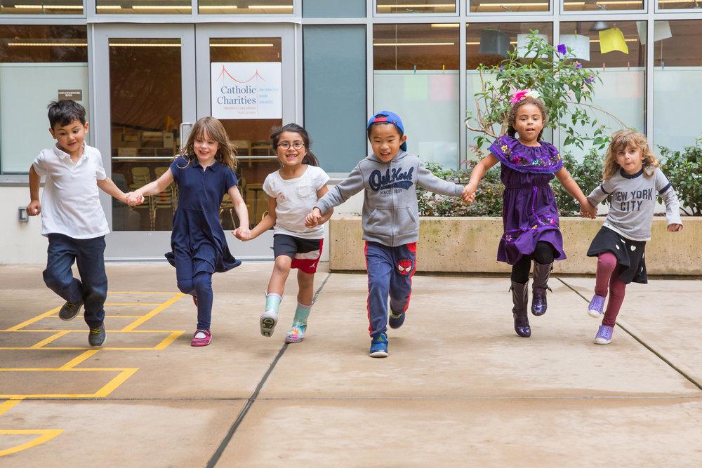 Children from Catholic Charities Maureen and Craig Sullivan Youth Center.