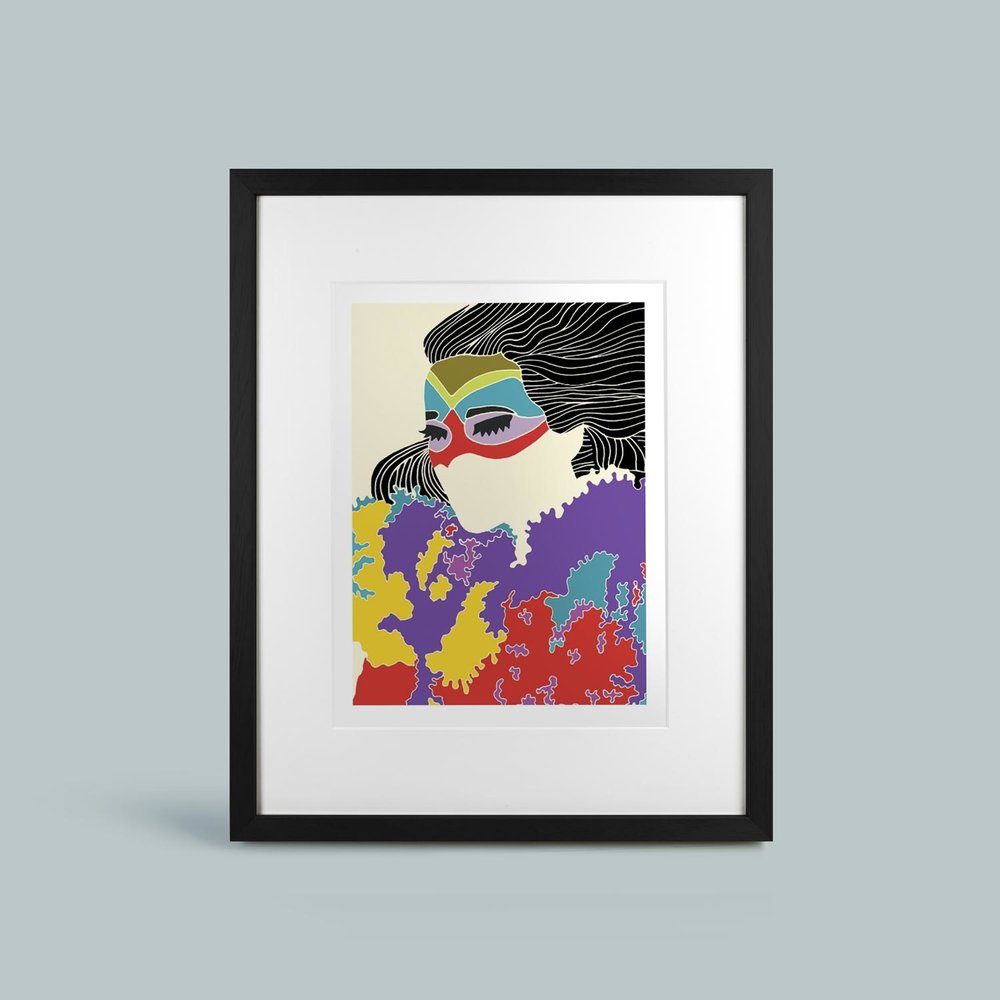'Volta'   Framed and mounted signed giclee print. Frame size 60cm x 50cm.  £100
