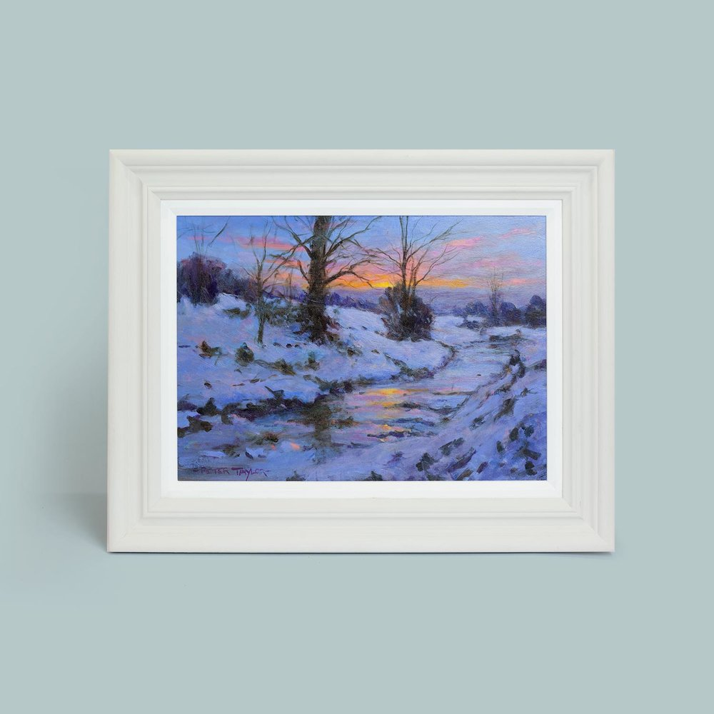 'Winter Reflections'   Original oil painting on board. Frame size 37cm x 47cm.   SOLD