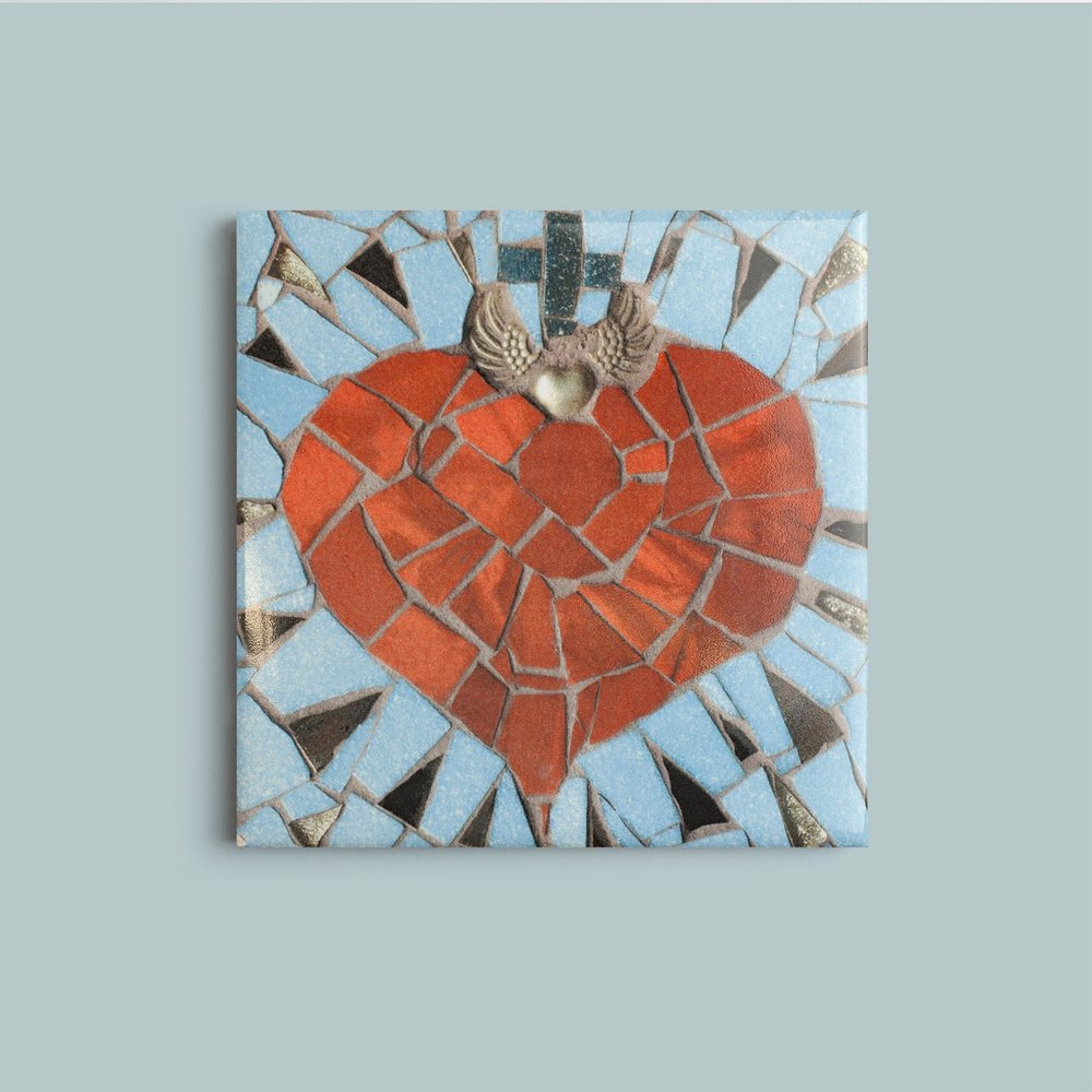 Heart Coaster   9.5cm £10
