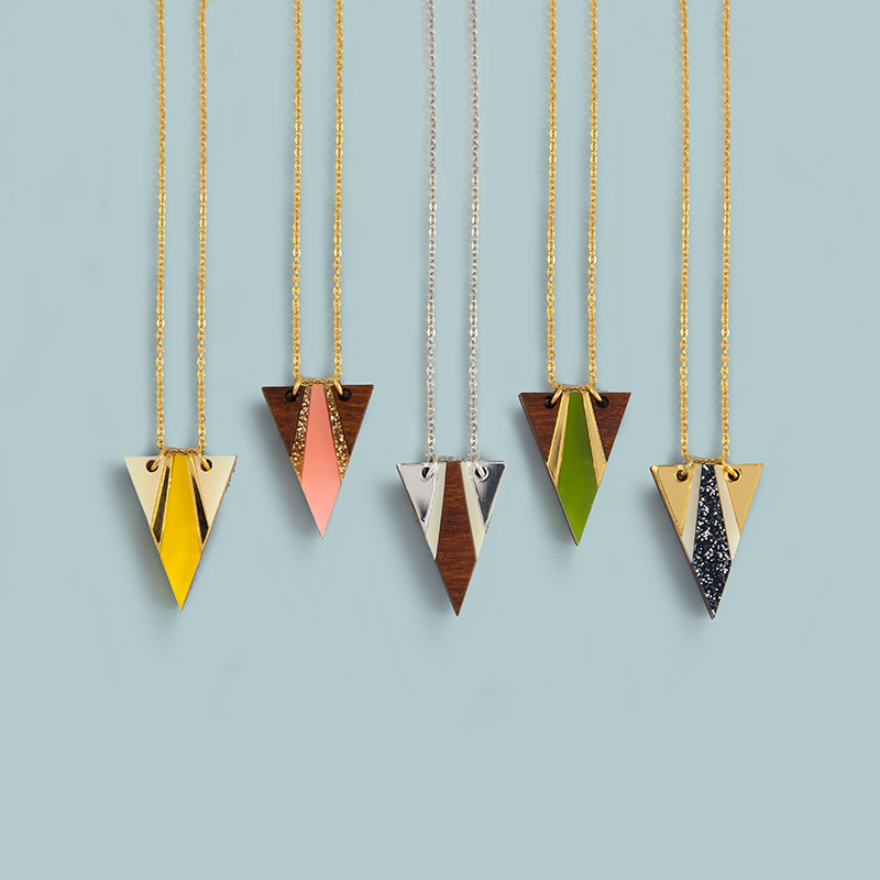 Airola Necklace   Cream/Gold/Yellow, Wood/Gold Sparkle/Apricot, Silver/White/Wood, Wood/Gold/Green, Gold/White/Silver Sparkle.  £25