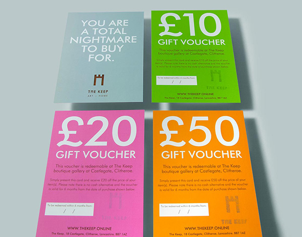 Gift Vouchers now available for those who can't decide