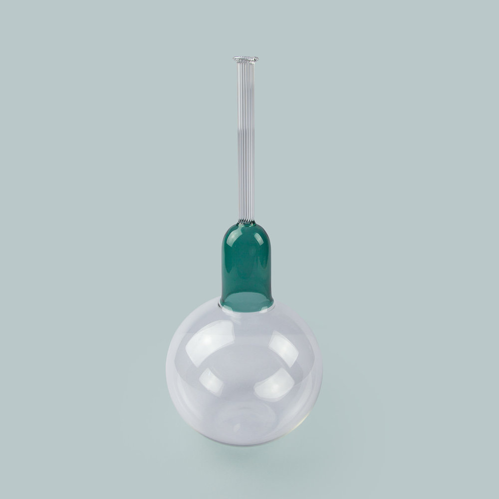 Vitro vas: Teal by Sarah Colson. £120