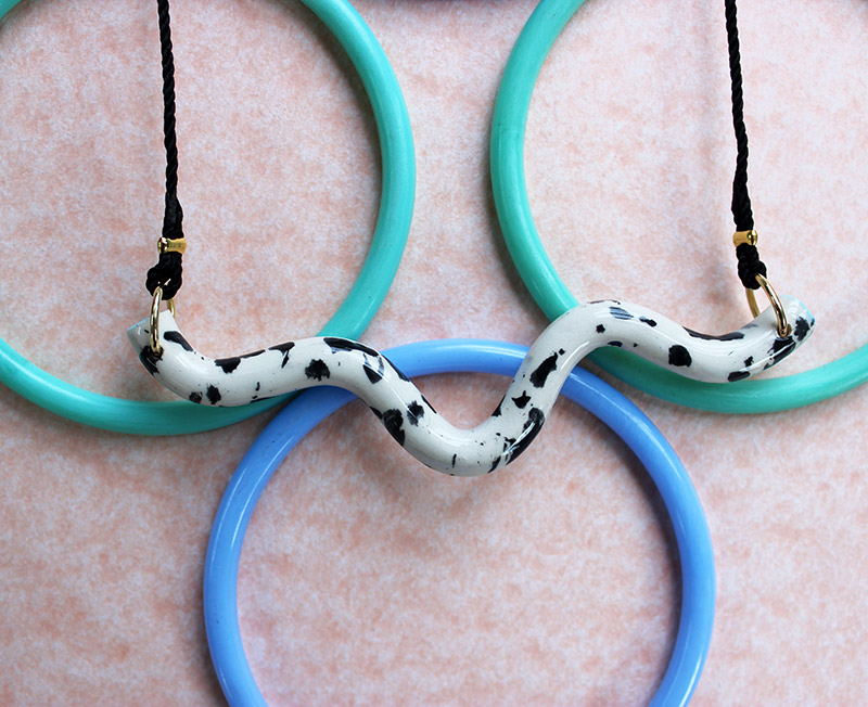 Speckled Twist Necklace by Aliyah Hussain