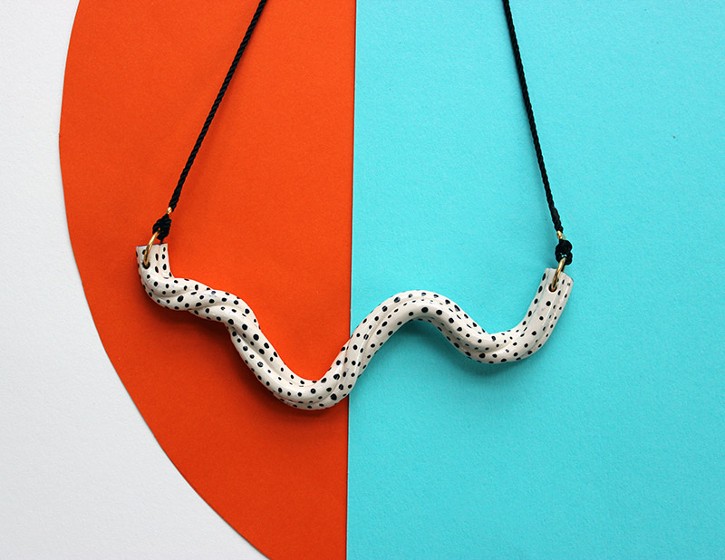 Twist Wave Necklace by Aliyah Hussain. £45