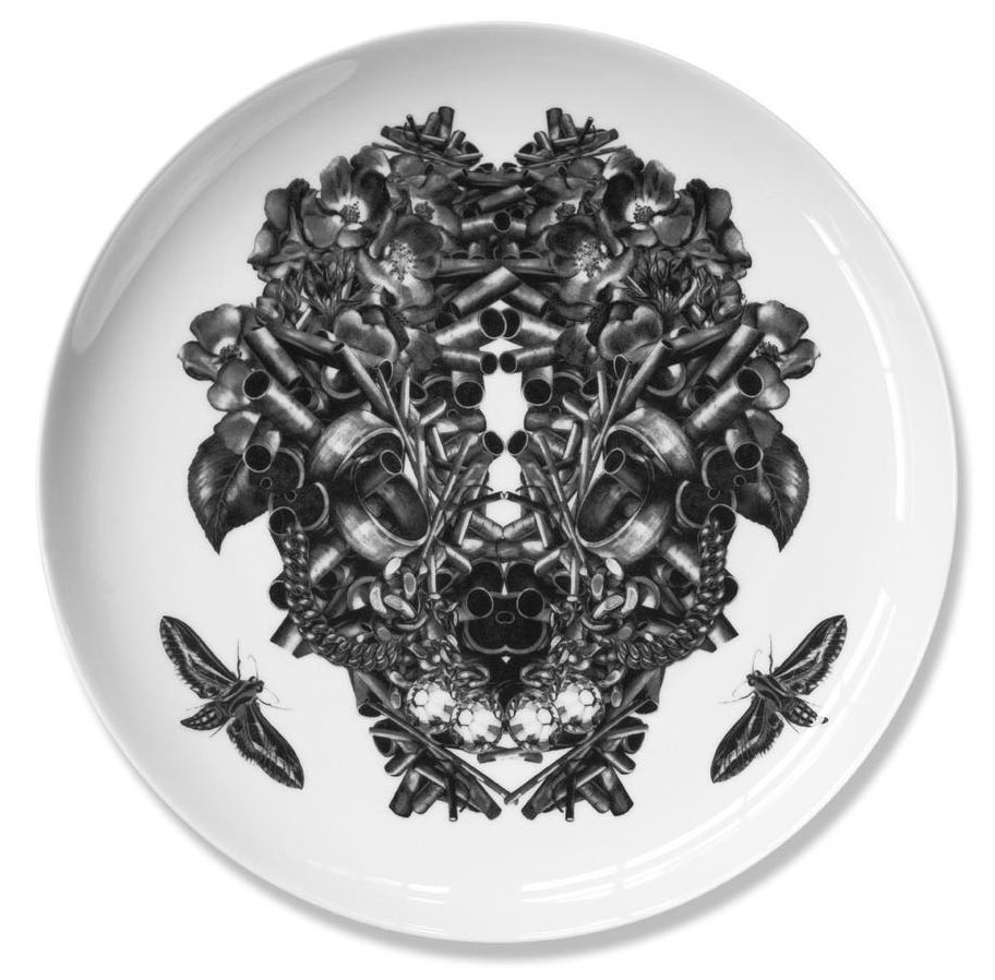 Christoff     Fine bone china plate. Produced in Stoke-on-Trent, England Dimensions: 27 cm   Hand applied illustration using decal.  £40.00