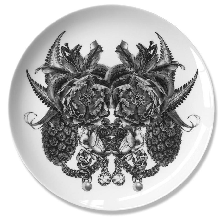 Karl   Fine bone china plate. Produced in Stoke-on-Trent, England Dimensions: 27 cm  Hand applied illustration using decal.  £40.00