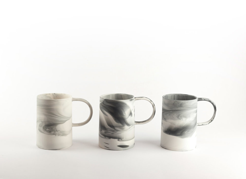 Tall Cup   The perfect stylish cup. Slip cast parian ceramic.  70mm(d) x 98mm(h)  £28 each