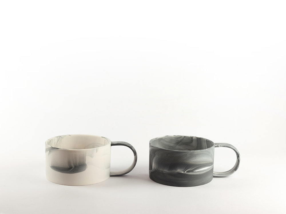 Wide Cup   Perfect for hot chocolate or soup. Slip cast parian ceramic.  140mm(d) x 55mm(h)  £30 each