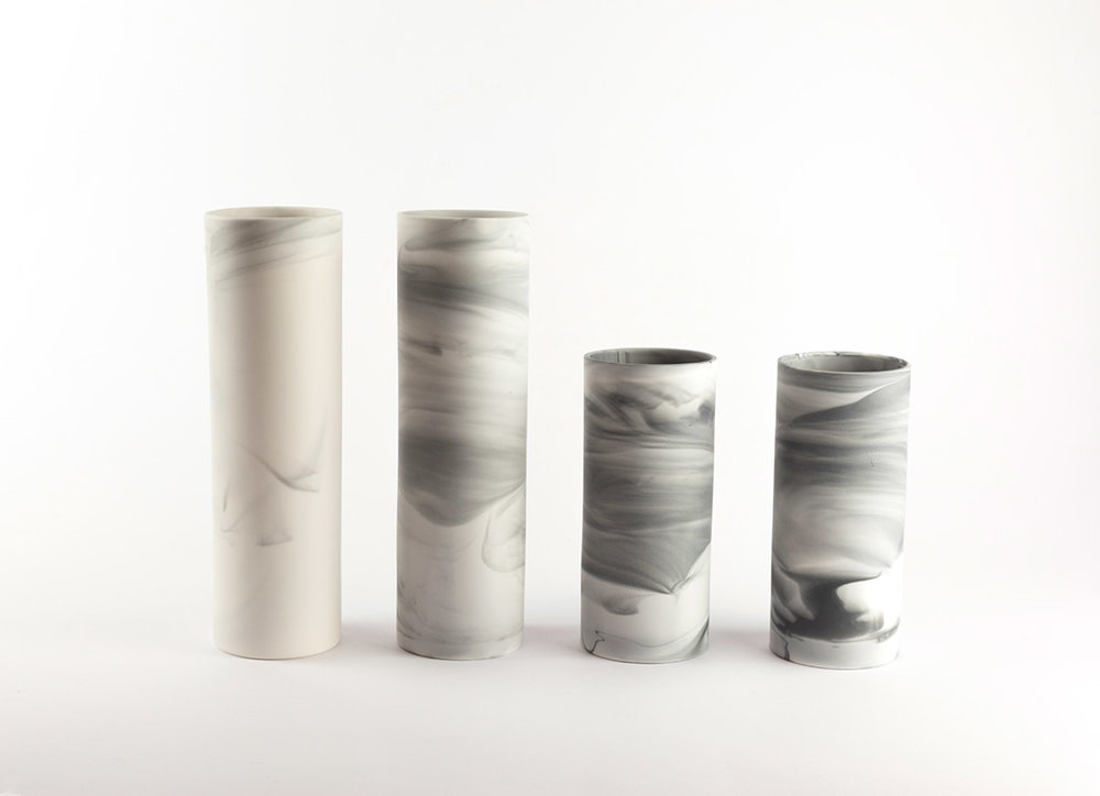 Cylinder Vase   Perfect for an elegant single stem or two. Slip cast parian ceramic.  small: 57mm(d) x 125mm(h) £45 regular: 57mm(h) x 190mm(d) £55