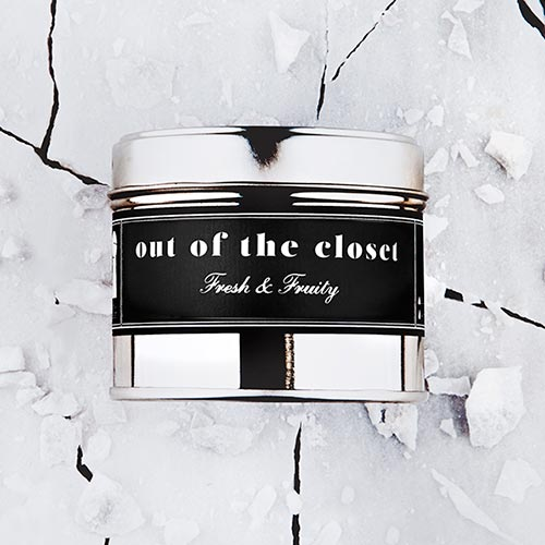 Out Of The Closet   Fresh and fruity fragrance.  Dimensions: 77mm x 65 mm, approx 240g  £10