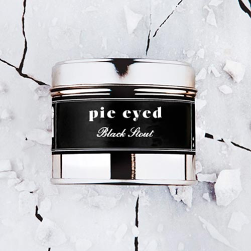 Pie Eyed   Black stout fragrance.  Dimensions: 77mm x 65 mm, approx 240g  £10