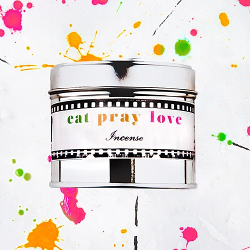 Eat Pray Love   Incense  fragrance.  Dimensions: 77mm x 65 mm, approx 240g  £10