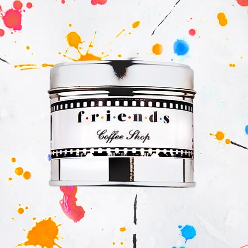 Friends   Coffee shop fragrance.  Dimensions: 77mm x 65 mm, approx 240g  £10