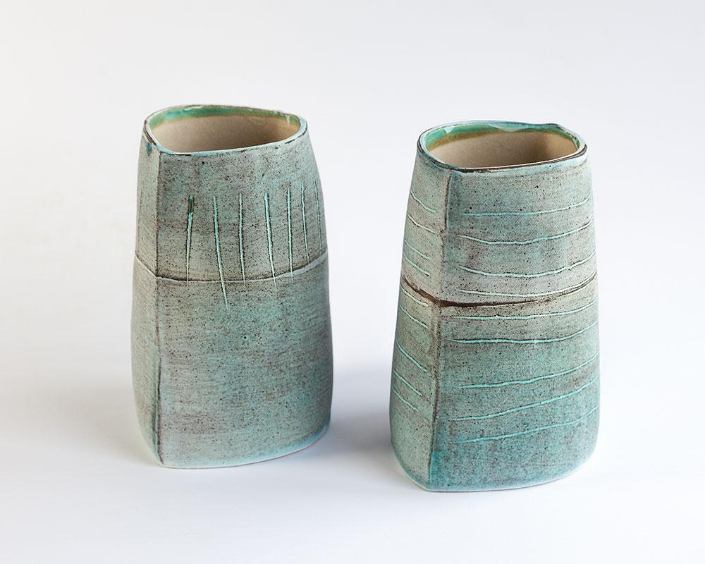 Vase   Glazed stoneware. Dimensions: 15 cm x 12 cm  £45.00 (each)