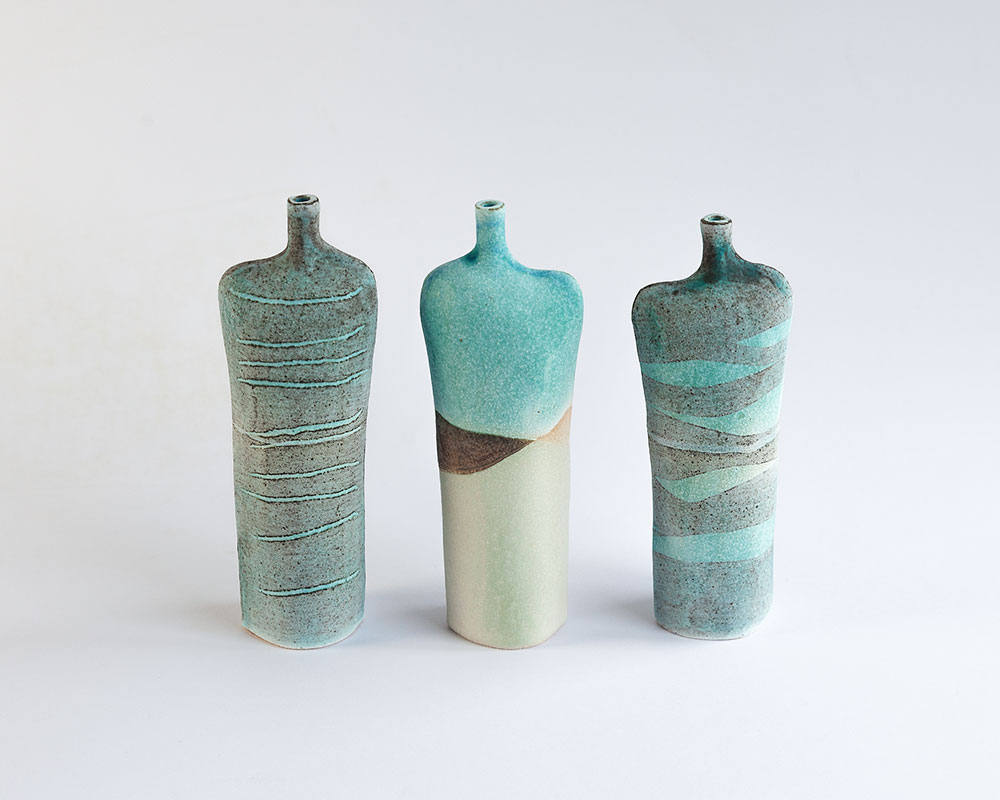 Medium Tall Bottle   Glazed stoneware. Dimensions: 15 cm x 6 cm  £25.00