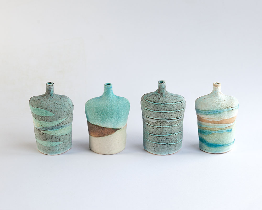 Small Bottle   Glazed stoneware. Dimensions: 9 cm x 6 cm  £20.00 (each)