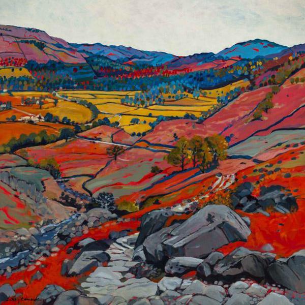 A Walk In Easdale   Mounted fine art giclée print.  Image Size: 29 cm x 29 cm  With Mount: 41 cm (w) x 42.5 cm (h)  £85.00