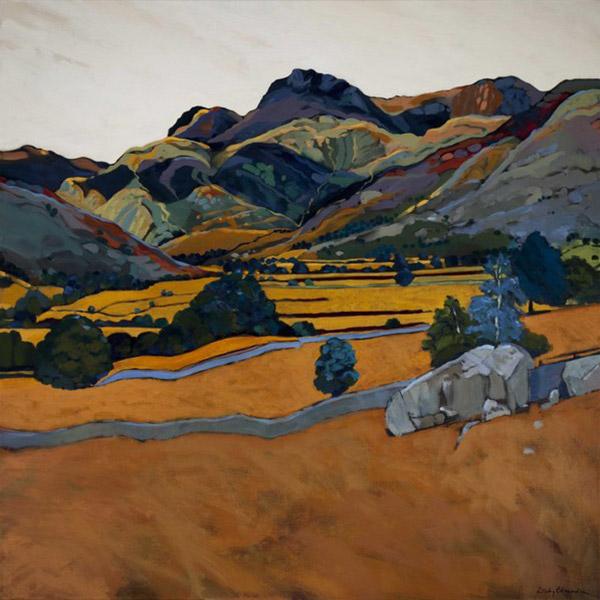 Langdale Boulder   Mounted fine art giclée print.  Image Size: 29 cm x 29 cm  With Mount: 41 cm (w) x 42.5 cm (h)  £85.00