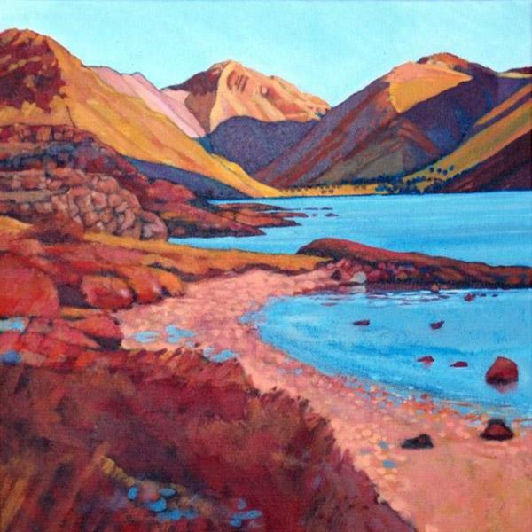 Wasdale Head   Mounted fine art giclée print.  Image Size: 29 cm x 29 cm  With Mount: 41 cm (w) x 42.5 cm (h)  £85.00