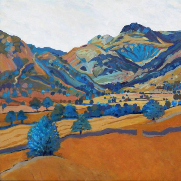 The Blue Wall   Mounted fine art giclée print.  Image Size: 29 cm x 29 cm  With Mount: 41 cm (w) x 42.5 cm (h)  £85.00