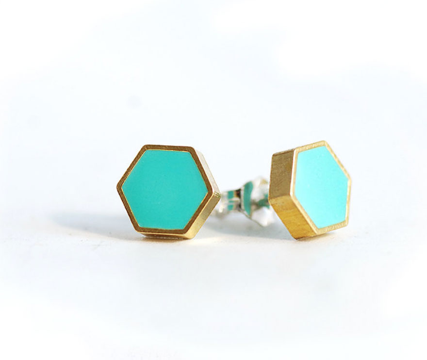 Turquoise-and-Gold-Hexagon-studs_02.jpg