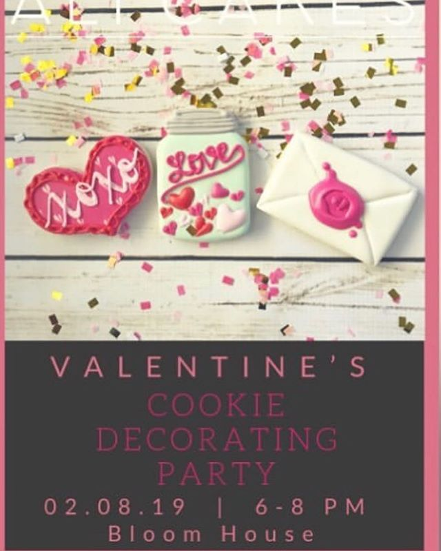 @alicakesok cookie decorating party this Friday. Grab your friend or daughter! For tickets visit her website. Space is limited don't miss out on the fun!