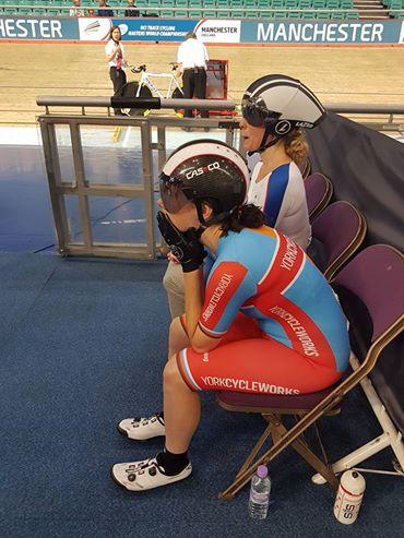 Settling the pre-race nerves.