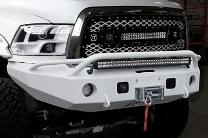 bumpers hard notched customs customized bumpers and headache racks