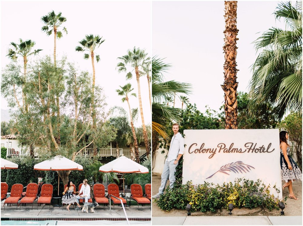 Colony Palms Hotel Anniversary Shoot | Plum & Oak Photo | www.plumandoakphoto.com