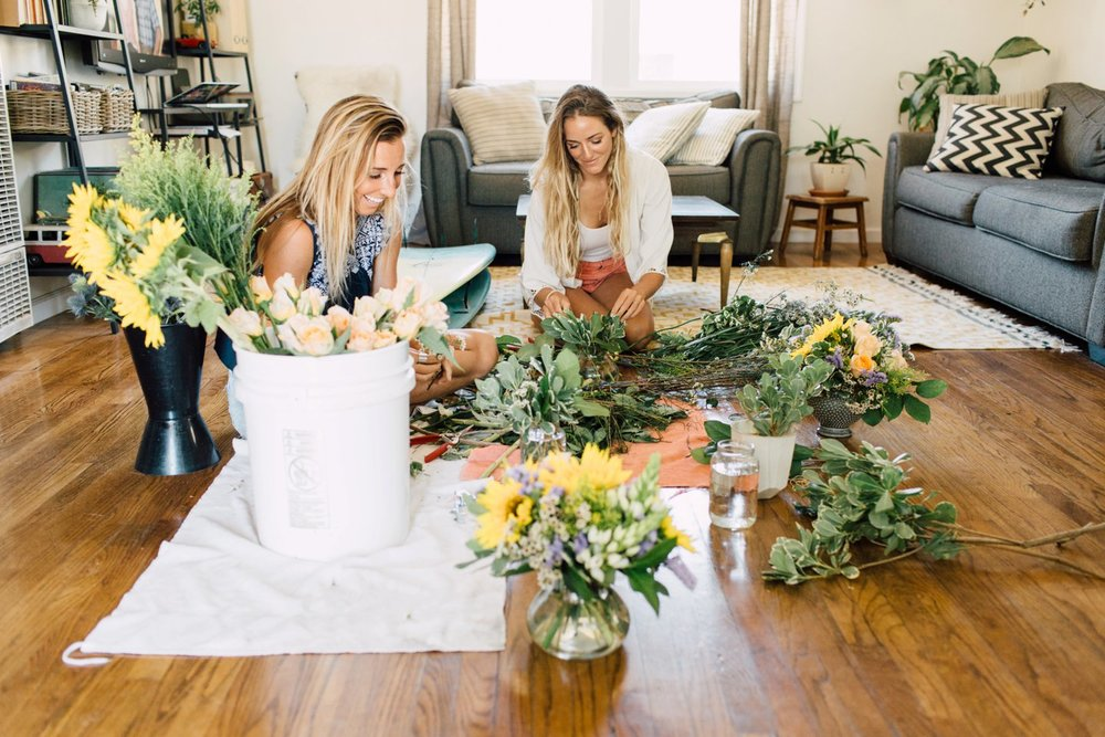 Behind the Scenes with San Diego Florist the Bloom Babes | www.plumandoakphoto.com