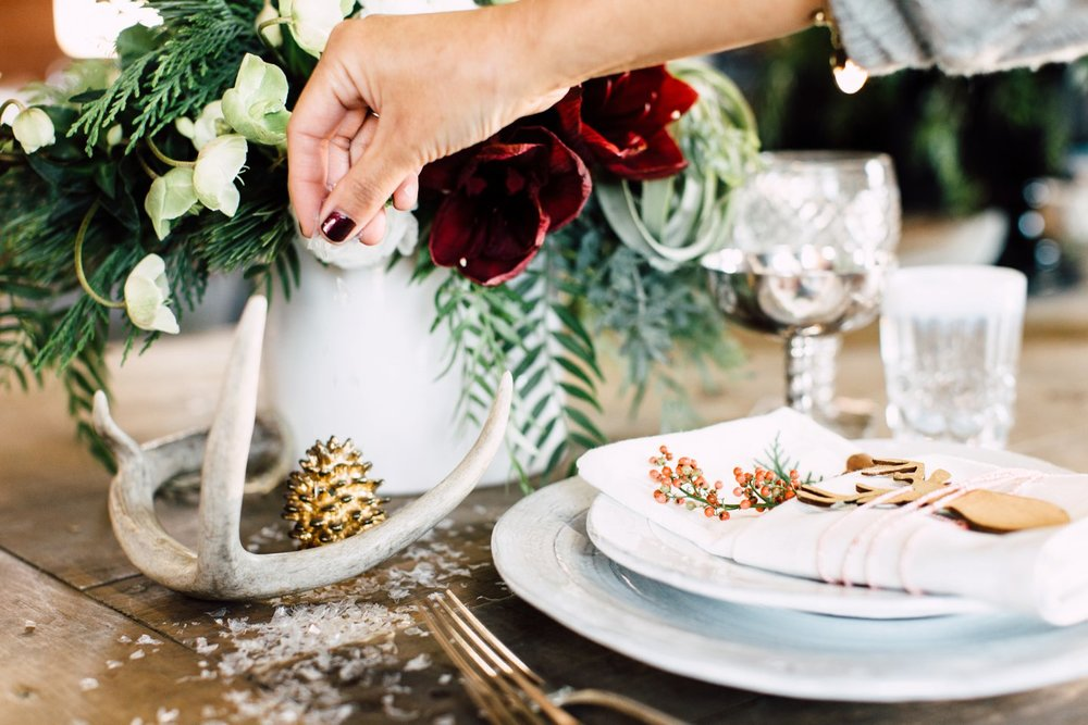 holiday place setting ideas