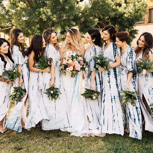 "Contender for ""Cutest Bridesmaids of 2018"" for sureeee. // Planner: @kelseyraedesigns / Florals: @bloomsbybreesalee/ Make Up: @shelby_mcelroy/ Dress: @misshayleypaige #staymasseysandiego #sandiegowedding"