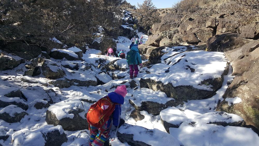 Bone Canyon in winter.