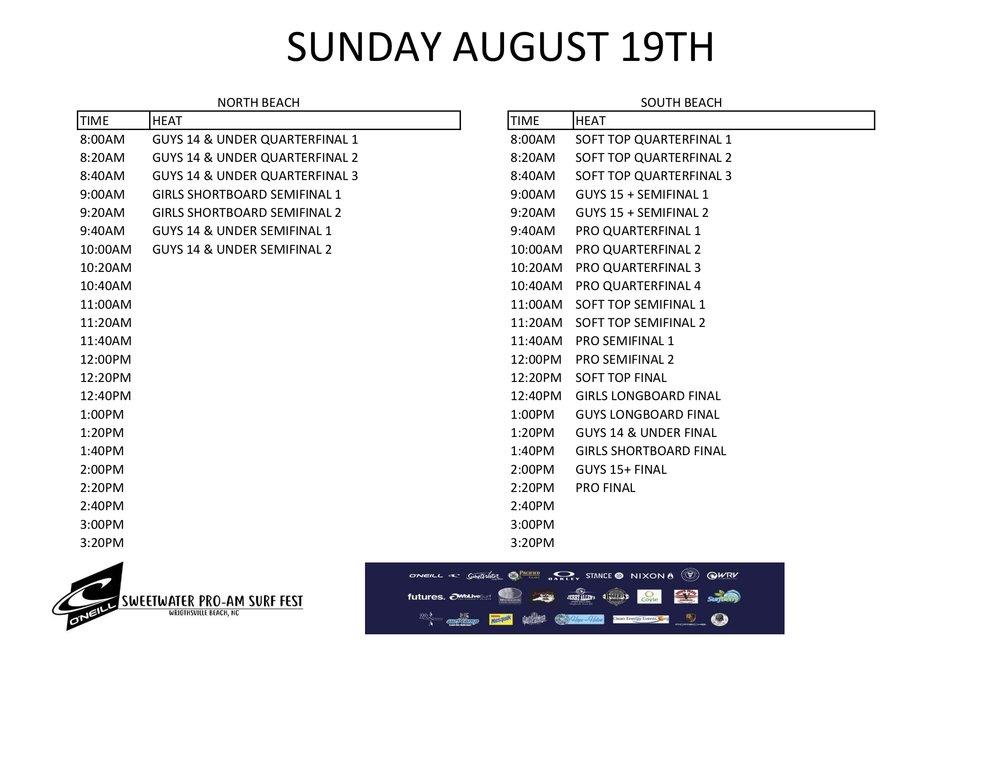 2018 O'Neill SW Pro schedule Sunday .jpg