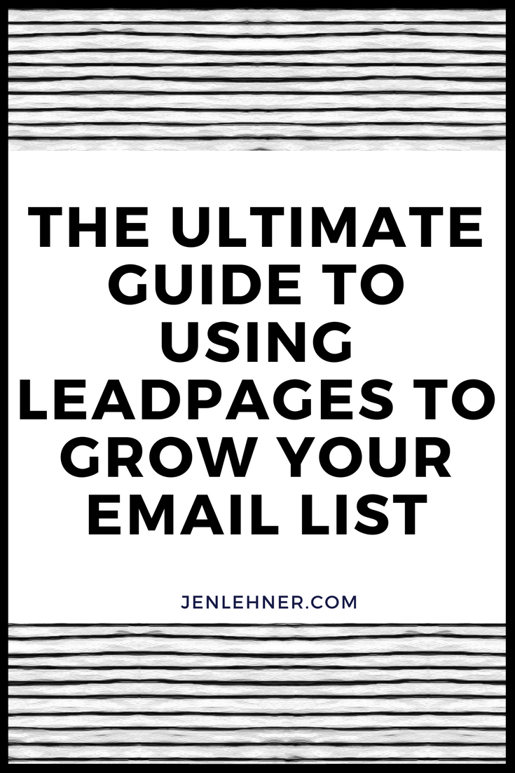 How to Use Leadpages to Grow Your Email List