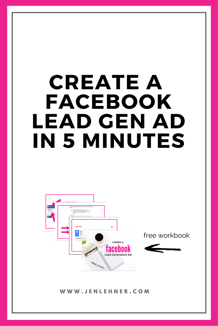 Create a Facebook Lead Generation Ad in 5 Minutes